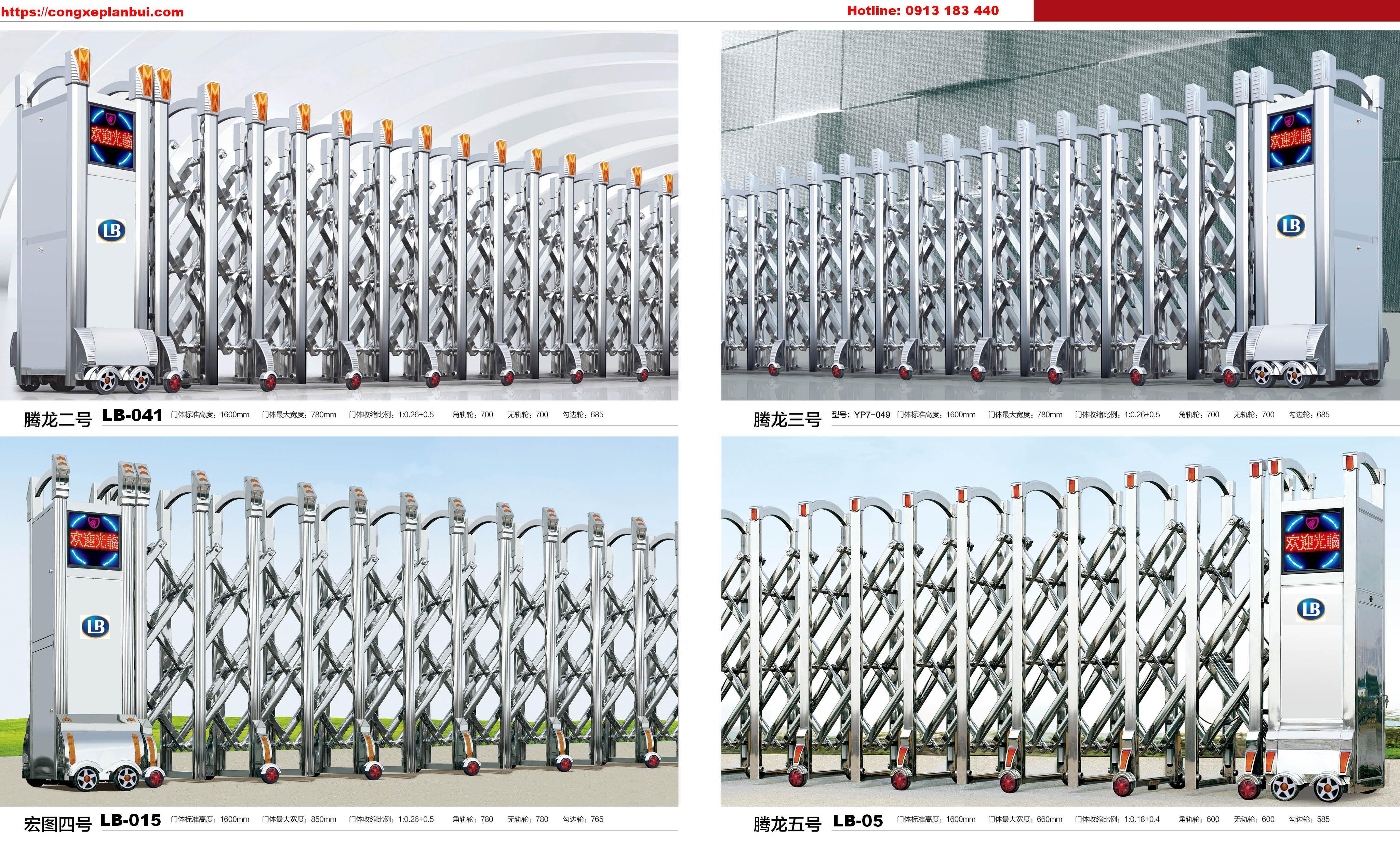 Cổng xếp inox LB181 nhập khẩu-  Bình thuận- 0913183440